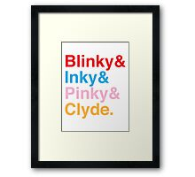 The Original Fab Four - Blinky, Inky, Pinky, Clyde Framed Print