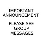 Group Announcement by Tezz