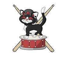 Kitten Josh Dun + Drums Photographic Print