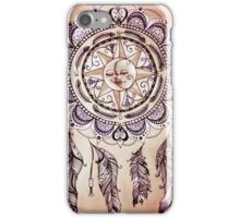 Bohemian Compass Rose Mandala - Tattoo Colours iPhone Case/Skin