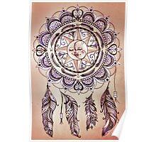 Bohemian Compass Rose Mandala - Tattoo Colours Poster