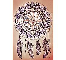 Bohemian Compass Rose Mandala - Tattoo Colours Photographic Print