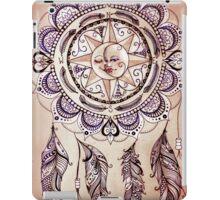 Bohemian Compass Rose Mandala - Tattoo Colours iPad Case/Skin