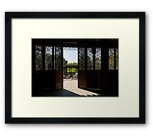 Walk Out to the Garden... Framed Print