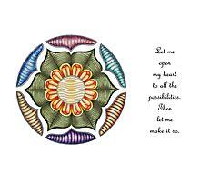 Lotus Wheel w/Msg Photographic Print