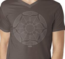 Lotus Wheel [white design] Mens V-Neck T-Shirt