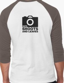 Eats, Shoots & Leaves... Men's Baseball ¾ T-Shirt