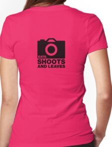 Eats, Shoots & Leaves... Womens Fitted T-Shirt
