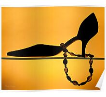 Shoe in gold - Print Poster