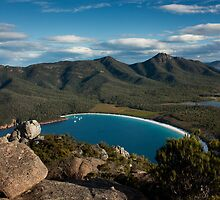 View of Wineglass Bay from Mount Amos by Ian Stevenson