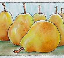 Six Golden Pears by Wendy Middlemass