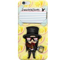 Wednesday 13 - Weirdo A Go-Go Ingredient List iPhone Case/Skin