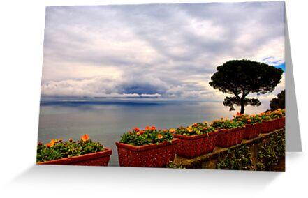 View of the Amalfi Coast from Villa Rufolo, Ravello, Campania, Italy by Andrew Jones
