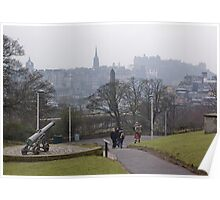 Auld Reekie From Calton Hill Poster