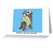 only the barber knows Greeting Card