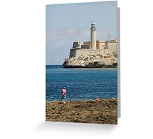 El Morro lighthouse, Havana, Cuba Greeting Card