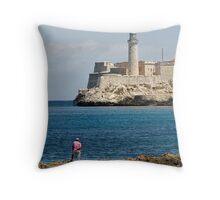 El Morro lighthouse, Havana, Cuba Throw Pillow