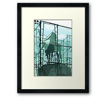 Statue in front of MFA in Boston during trapped Framed Print