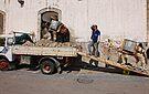 clearing builder's rubble Amalfi-style, Minori, Campania, Italy by Andrew Jones