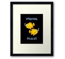 Pisces cartoon goldfish humourous  Framed Print