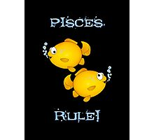 Pisces cartoon goldfish humourous  Photographic Print