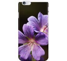 Four Purple Geranium Flowers iPhone Case/Skin