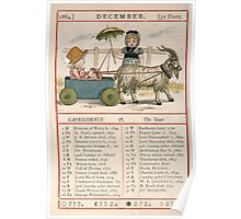 Kate Greenaway Almanack 1880 0018 December Poster