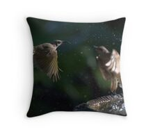 Honey Eater Throw Pillow
