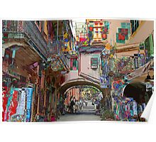 All About Italy. Piece 12 - Monterosso Houses Poster