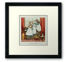The April Baby's Book of Tunes by Elizabeth art Kate Greenaway 1900 0022 Don't Push So You Awful June Framed Print