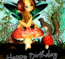 Ooh Pretty Butterfly - Happy Birthday Friend by Moonlake