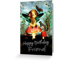 Ooh Pretty Butterfly - Happy Birthday Friend Greeting Card