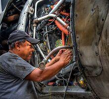 Aircraft Mechanic -- HDR Portrait by njordphoto