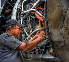 Aircraft Mechanic -- HDR Portrait by njordphoto