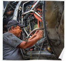 Aircraft Mechanic -- HDR Portrait Poster