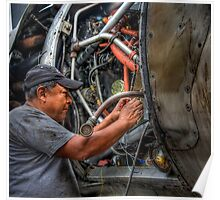 Aircraft Mechanic -- HDR Portrait Poster