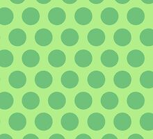Green Polka Dots by Louise Parton