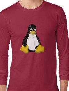LINUX TUX THE PENGUIN KONTRA SIT Long Sleeve T-Shirt
