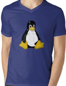 LINUX TUX THE PENGUIN KONTRA SIT Mens V-Neck T-Shirt