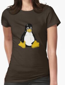 LINUX TUX THE PENGUIN KONTRA SIT Womens Fitted T-Shirt