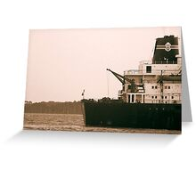 Ship near St. Simon's Island Greeting Card
