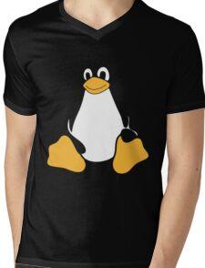 TUX LINUX Mens V-Neck T-Shirt