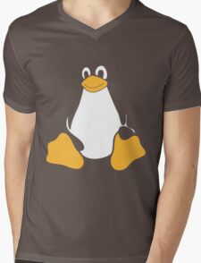TUX LINUX Mens V-Neck T-Shirt