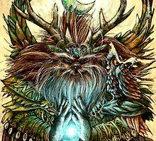 Owl and Gladi by David Davies
