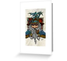 Wizard and Wyrmling Greeting Card