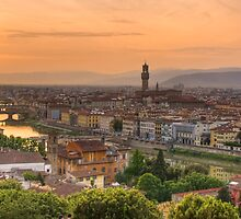 Florence Sunset by Mick Burkey
