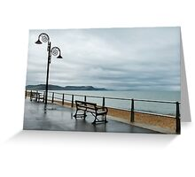 Empty Seats ~ Lyme Regis Greeting Card
