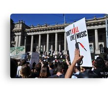 S.L.A.M. (Save Live Australian Music) Protest Rally XI. Canvas Print