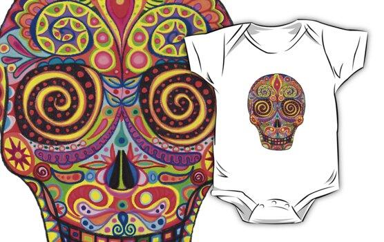 Sugar Skull Day of the Dead shirt by Thaneeya McArdle