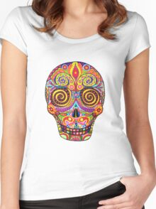 Sugar Skull Day of the Dead shirt Women's Fitted Scoop T-Shirt